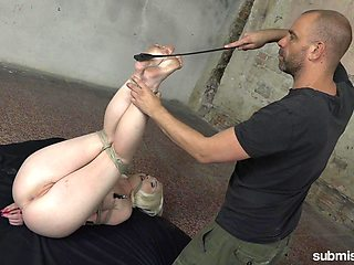 Spanking gives a new level of sexual pleasure for tied Lovita Fate