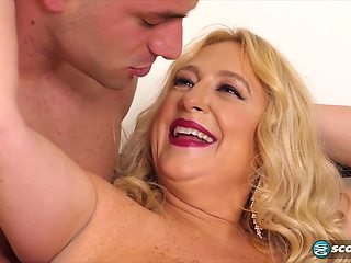 Nina Bell got cum all over her tits after riding her lovers cock like a real pro