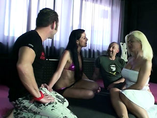 Two German Swinger Couple Change her Wifes and Fuck Foursome