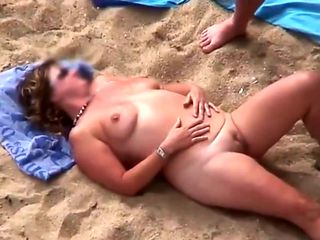 Mature Beach Play