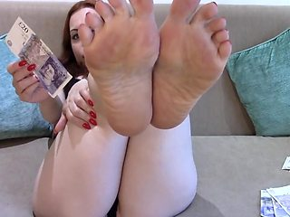 Amy Wynters Findom Feet - Drained By Sexy Soles, Foot Domination POV