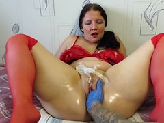 gaping pussy mature woman. fisting