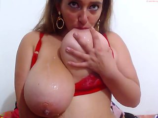 Lauren fucks her ass and drinks milk from her tits