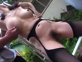 Slutty Asian milf with big boobs loves to get banged rough