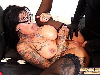 german big tits femdom milf and a sex slave