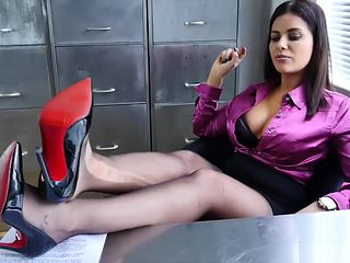 Nylon feet at the office