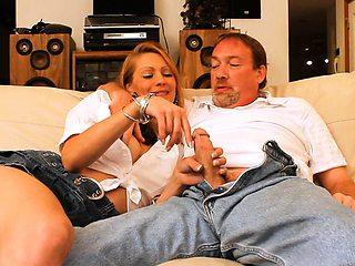Skinny Blonde Slut Wife Fucked on DVD