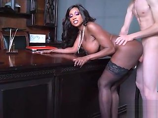 Hard Bang On Cam In Office With Big Round Tits Girl (Diamond Jackson) video-12