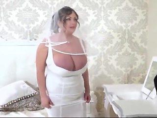 plump big tits milf sucks and fucks on her wedding day
