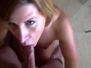 Hot Cheating Mommy Deepthroats & Jizzed On Face