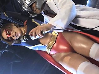 Helpless Japanese supergirl gets her honey hole vibrated