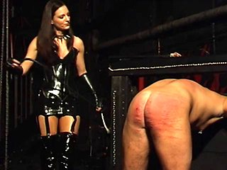 Punished by a german mistress in her dungeon