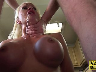 Sub with big tits fucked