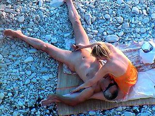 Pretty titties caught by voyeur at beach