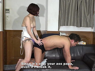 Japanese Femdom Pegs Male Slave
