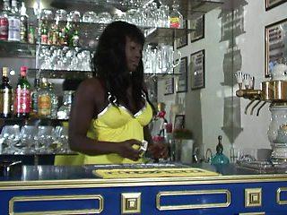 Interracial - Ebony bitch fucked by 2 horny white guys