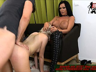 German foursome anal double penetration groupsex with latina