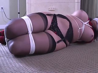 Big Woman in Girdles and Stockings