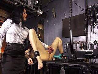 RUINING THE ORGASMS OF HER SLAVE TWICE
