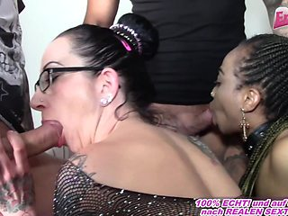 german couple sharing homemade foursome gangbang with amateur milfs