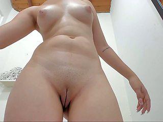naked masturbation in toilet