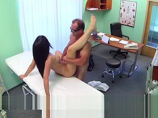 Doctor fucking busty petite patient in fake hospital