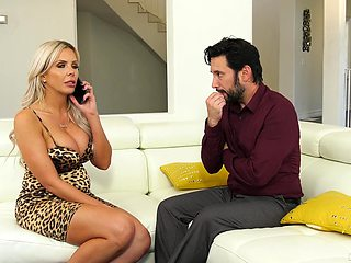 Sexy housewife fucks her lawyer and that lady has got big succulent boobs