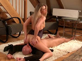Big Tittied Sluty Ally Guzzles Down A Fat Cock