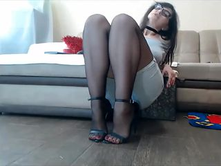 Pantyhose Milf, Nylon Feet Lovers, Foot fetish Action, Sexy feet and heels