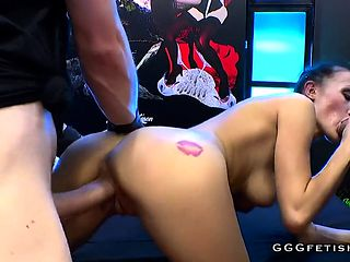Czech nicole love in extreme bukkakes party