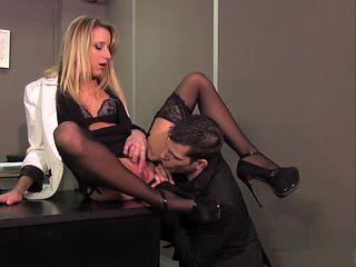 Slutty French Blond Kelly Pix loves anal sex