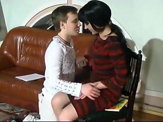 Russian Teacher Creampie