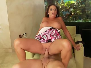 Busty Hot MILF Margo Sullivan Jerks Cum On Her Face