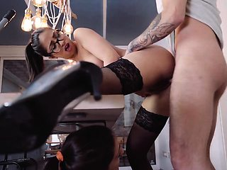 XXX SHADES - Sexy Romanian babe gets fucked by Spanish cock