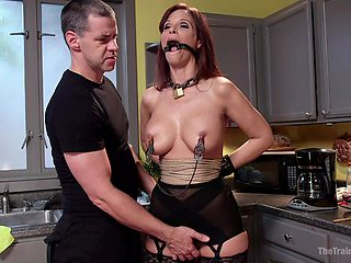 After a blowjob horny Syren De Mer is ready for BDSM and hard sex