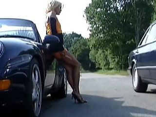 The woman hitchhiker fucking man