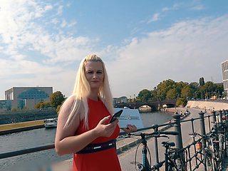 Kinky blonde German bitch Mia Bitch feels great about sucking cock