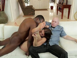 Brunette can't wait to be banged in her mouth by hard dicked guy