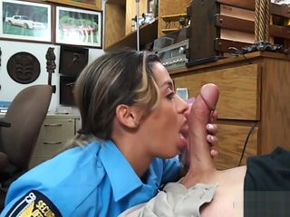 Busty latin officer banged by pawn man at the pawnshop