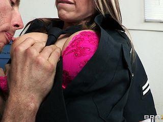naughty police slut gets tied up