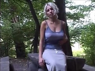 Girlfriend Flashing in Forest VR88