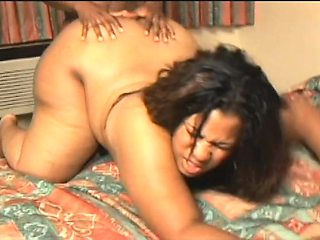 Ebony plumper works her juicy honey hole on every inch of black meat