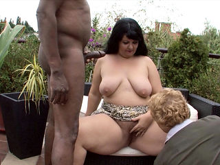 Cuckold Watch while Black Guy fuck his Fat BBW Wife Outdoor