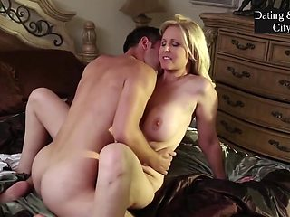 Blonde Stepmom Making Love With Stepson