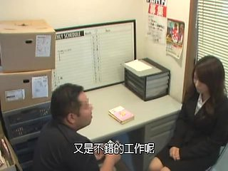 Delicious Jap creampied in the office spy cam video