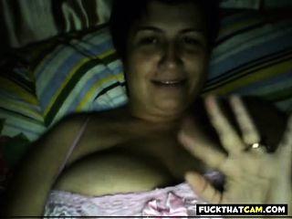 Russian mature mother flashing tits
