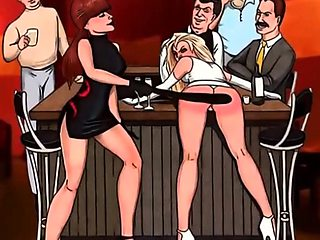 Ass spanking toons