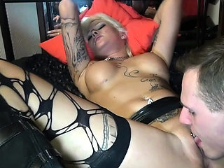 German extrem hardcore fuck with blond tattoo prostitute