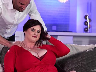 Dude can't escape his lust for his friend's busty BBW