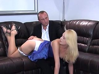 Young blonde babe gets punished for bad grades